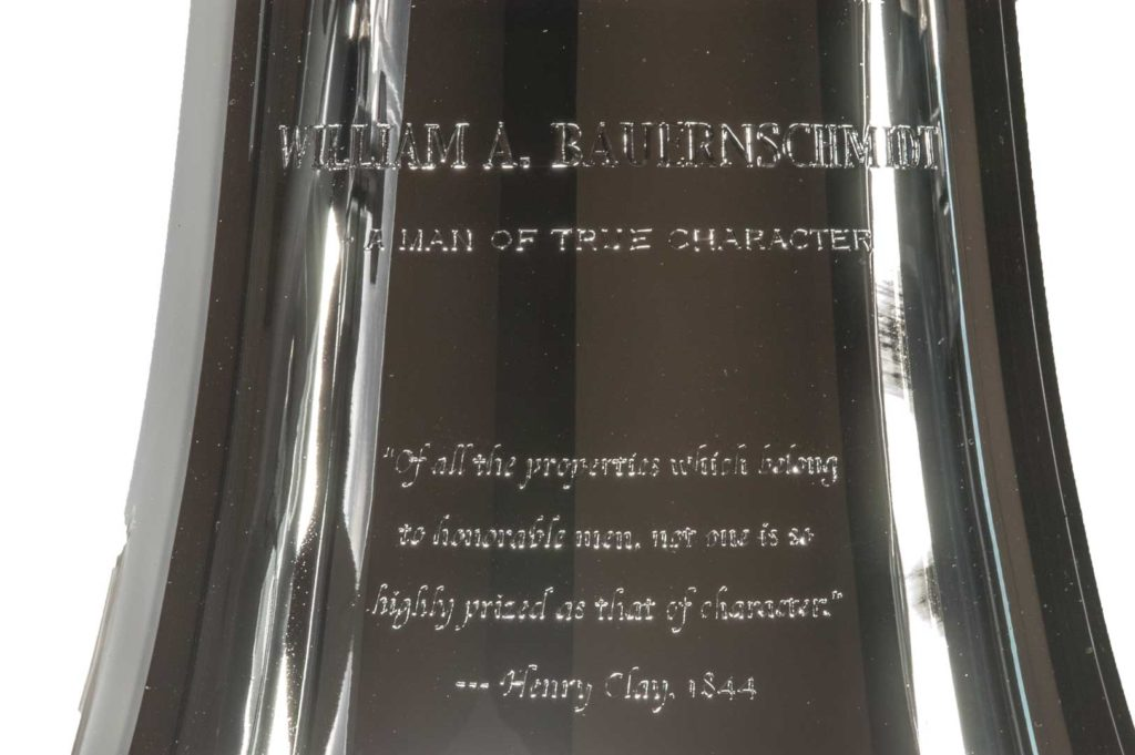 Dedication Bell Engraved by Tira Mitchell